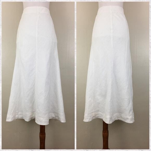 040b46b34 J. Jill Skirts | J Jill Love Linen White Aline Midi Skirt | Poshmark